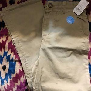 Kids Carters Unisex Khaki Uniform Pants Size 14
